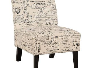 lily Upholstered Chair Script   linon