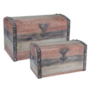 Wood Dome Trunk 2PC set