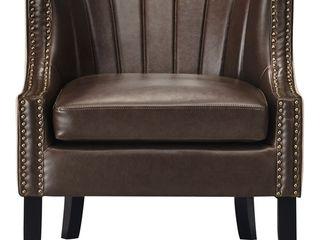 24  Amelie Mid Century Modern Armchair Dark Brown   Adore DAccor