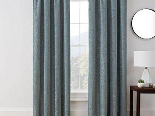 84 x50  Troy Room Darkening Window Curtain Panel Blue   Brookstone 1 panel