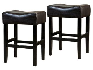 Portman 26 inch Bonded leather Backless Counter Stool  Set of 2  by Christopher Knight Home