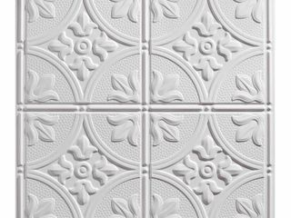 2 x 2  Retail x 2  Genesis Antique White 2 x 2 ft  lay in Ceiling Tile  Pack of 12