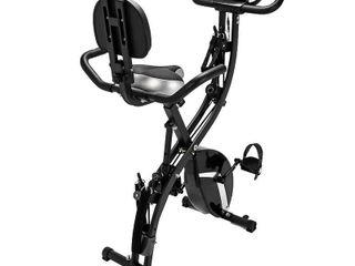 Black  3 in 1 Indoor Exercise Folding Magnetic Upright Bike Cardio Equipment