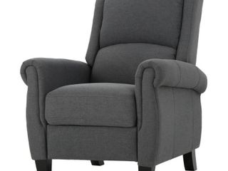 Haddan Fabric Recliner Club Chair by Christopher Knight Home   Retail 274 80