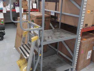 rolling step stool ladder cart  DAMAGED