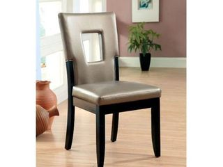 Furniture Of America IDF 3320SC Evant I   Side Chair  2 Pack   Black