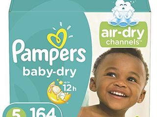 Diapers Size 5   Pampers Baby Dry Disposable Baby Diapers  Amount UNKNOWN