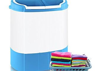 Pyle Portable Washer   Spin Dryer  Mini Washing Machine  Twin Tubs  Spin Cycle w  Hose  11lbs  Capacity  110V   Ideal For Compact laundry