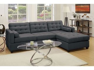 2 Pcs Tufted Upholstery Sectional