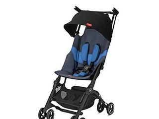Pockit  All Terrain  Ultra Compact lightweight Travel Stroller with Canopy and Reclining Seat in Night Blue