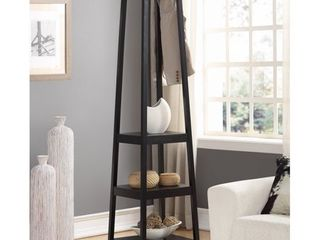 Roundhill Furniture Vassen 3 Tier Storage Shelve Coat Rack