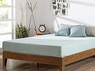 Private by Zinus Brown Wood Platform Bed