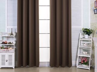 96 Inches96 Inches  Edessa Premium Insulated Thermal Blackout 63 in Hazelnut Brwn Set of 2