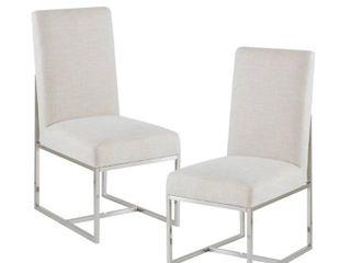 Madison Park Miyu Natural Dining Chair  Set of 2    19 w x 26 d x 40 h  Retail 499 98