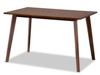 Baxton Studio Britte Walnut Finished Rectangular Wood Dining Table DAMAGED