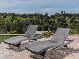 Vilano Outdoor lounge Chairs  Set Vilano Outdoor lounge Chairs  Set of 2