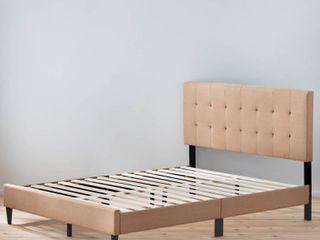 Copper Grove Ayrum Upholstered Bed Frame with Square Tufted Headboard  Retail 197 99