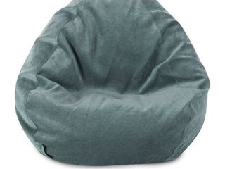 Azure  Majestic Home Goods Villa Velvet Collection Bean Bag Chair Small large