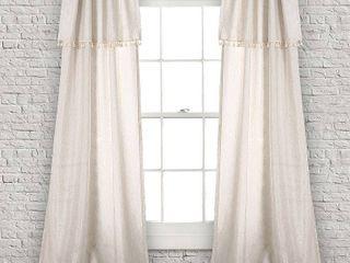 Ivy Tassel Window Curtain Panels Set