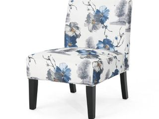 1 Kassi Contemporary Fabric Slipper Accent Chair by Christopher Knight Home  Retail 111 49