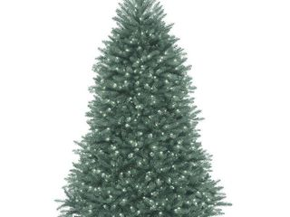 Null  7 ft  Dunhill Blue Fir Tree with Clear lights  Retail 282 99