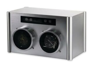 Watch Winder by Rotations Silver Tone Metal Double Watch Winder