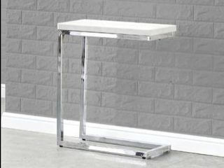 Silver Orchid Eden White Marble Top Chairside Table  Retail 126 49