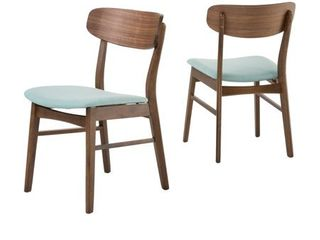 Christopher Knight Fabric upholstered Wood Dining Chairs  Set of 2  Retail 148 49