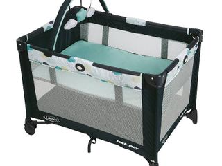 Graco Pack an Play On the Go Playard with Bassinet   Stratus  RETAIl  89 99