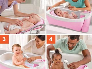 Summer lil luxuries Whirlpool Bubbling Spa   Shower  Pink  a luxurious Baby Bathtub with Circulating Water Jets a Includes Deluxe Newborn Sling and Clean Rinse Spa Shower Unit  RETAIl  64 99
