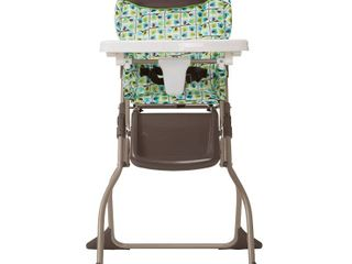 Cosco Simple Fold High Chair with 3 Position Tray  Elephant Squares   RETAIl  44 99