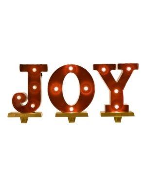 Joy Christmas Stocking Holder Set   Glitzhome