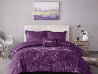 Twin   Twin Xl  Isabel Velvet Comforter Set by Intelligent Design  Retail 88 49