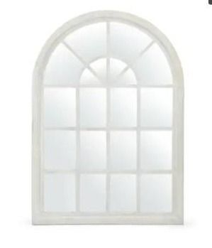 Dunlap Traditional Arched Windowpane Mirror by Christopher Knight Home   31 00  W x 1 25  l x 44 00  H  Retail 181 49