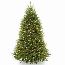 7 5ft National Christmas Tree Company Pre lit Dunhill Fir Hinged Full Artificial Christmas Tree with 750 Clear lights