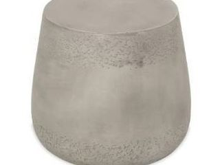 Orion Outdoor Contemporary lightweight Concrete Accent Side Table by Christopher Knight Home   19 00 W x 19 00 D x 16 25 H