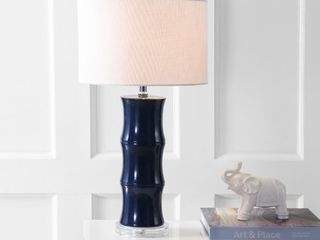 Tiki 26 5  Ceramic lED Table lamp  Navy