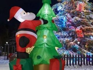 Inflatable  Kinbor 7Ft Christmas Inflatable Santa Claus Christmas Tree for Indoor Outdoor