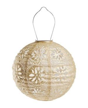 Set of 3 Allsop Home   Garden Soji Stella Boho Globe Solar lantern
