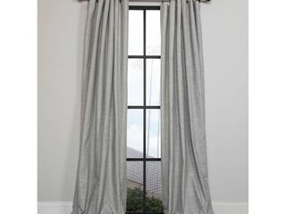 Set of 2 Manor luxe lucille 54 in  x 108 in  Solid Blackout Thermal Rod Pocket Curtain Single Panel in Gray