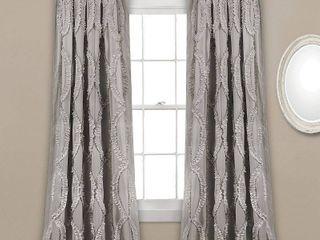 Set of 2 Avon Ruffle 54  x 84  Single Curtain Panel