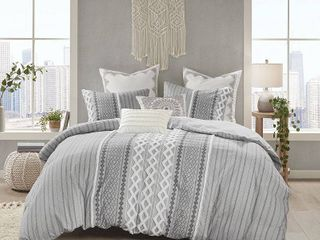 The Curated Nomad Clementina Geometric Cotton Duvet Cover Set  Retail 107 99
