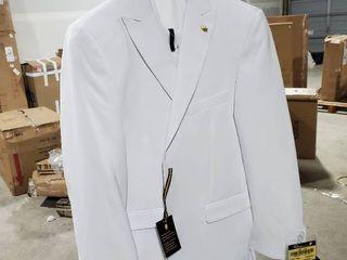 38R 31W  Men s White Two button Suit