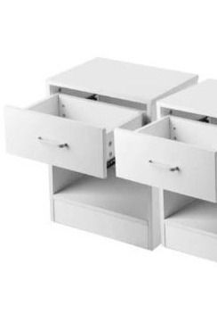 1 table White Bedroom Storage End Beside Table 1 Drawer Nightstand  Retail 94 49