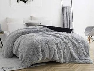 Queen  Coma Inducer Duvet Cover   Are You Kidding   Glacier Gray White  Retail 111 99