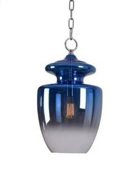 Baden Blue Ombre with Chrome 1 light Pendant  Retail 191 99