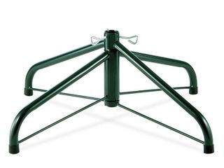 Green  24 inch Folding Tree Stand for 6 1 2 to 8 foot Trees  With 1 25 inch Pole