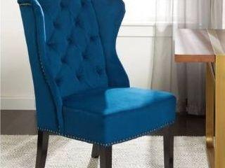 Single   Blue   Dining Height  Abbyson Sierra Tufted Navy Blue Velvet Wingback Dining Chair  Retail 205 49