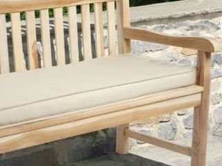 Indoor  Outdoor 60  Bench Cushion with Sunbrella Fabric Solid Traditional  Retail 161 99