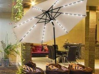 Khaki  Ainfox 10Ft Outdoor Patio Solar Umbrella for Garden Backyard Pool  Retail 112 49